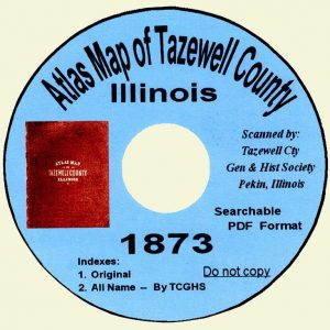 1873 Atlas Map of Tazewell County CD-ROM