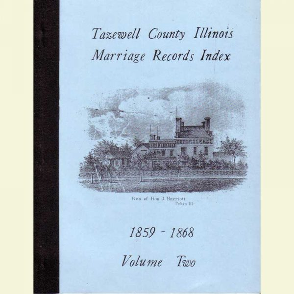 Cover - Marriages Volume 2 - 1859-1868