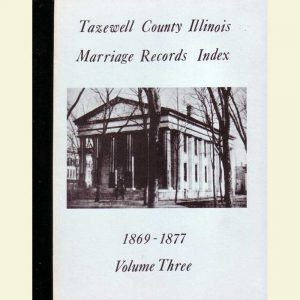 Cover - Marriages Volume 3 - 1869-1877