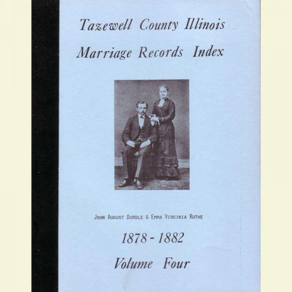 Cover - Marriages Volume 4 - 1878-1882