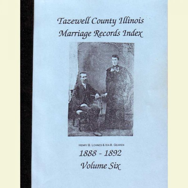 Cover - Marriages Volume 6 - 1888-1892