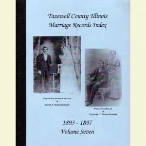 Cover - Marriages Volume 7 - 1893-1897