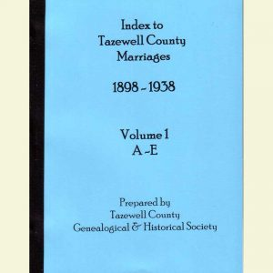 Cover - Marriages 1898-1938 - Volume 1 - Surnames A-E