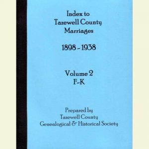Cover - Marriages 1898-1938 - Volume 2 - Surnames F-K