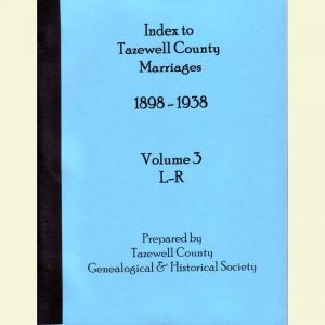 Cover - Marriages 1898-1938 - Volume 3 - Surnames L-R