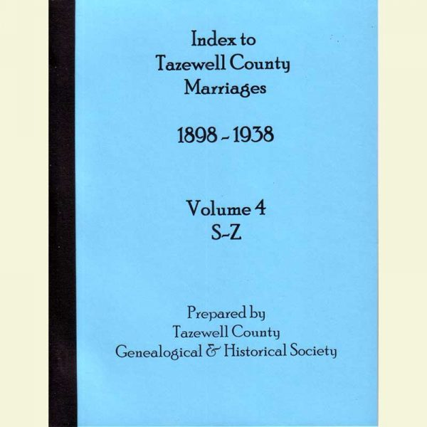 Cover - Marriages 1898-1938 - Volume 4 - Surnames S-Z