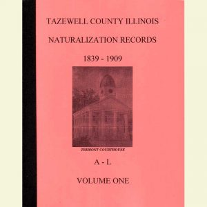 Cover - Naturalization Records Volume 1 - 1839-1909 - Surnames A-L