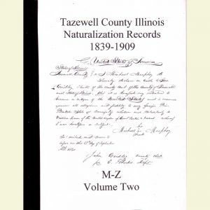 Cover - Naturalization Records Volume 2 - 1839-1909 - Surnames M-Z