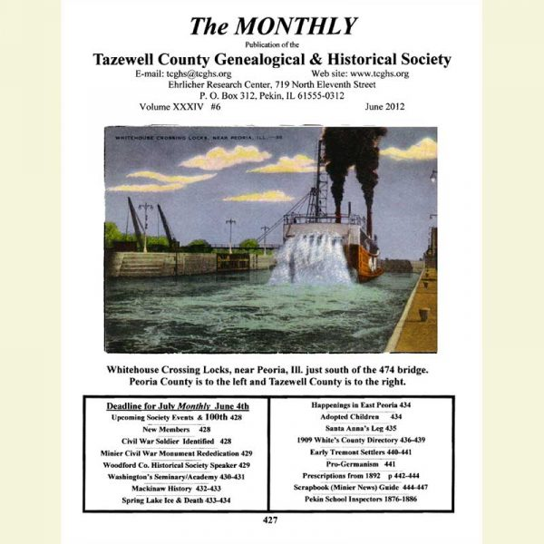 Cover of June 2012 Monthly Newsletter