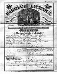 Image of 1877 Marriage License