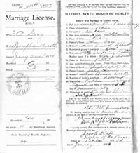 Image of 1904 Marriage License