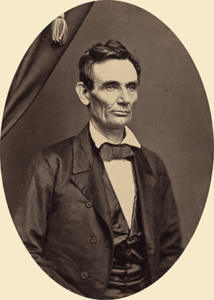 Photo of Abraham Lincoln 1858