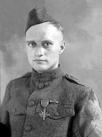 "Photo of Lewis E. ""Scoop"" Lohmann in WWI Uniform"