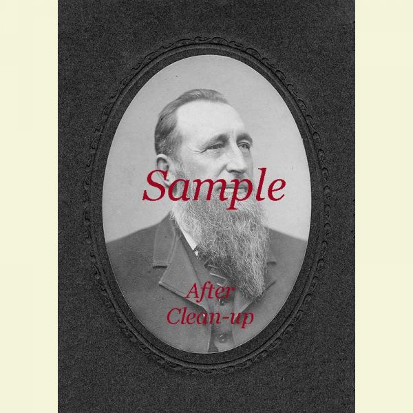 Sample Notable Man Photo after Clean-up