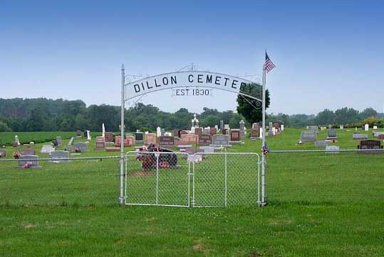 Dillon Cemetery Entrance