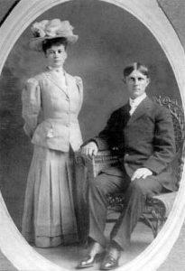 Samuel Franklin Rollings Daisy Belle Carter Wedding Photograph March 1908