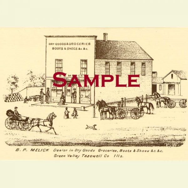 B.J. Melick's Store (Green Valley) Notecard
