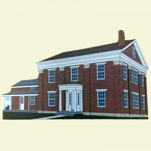 "Menard-Jones ""Red Brick"" House Shelf Sitter - Front"