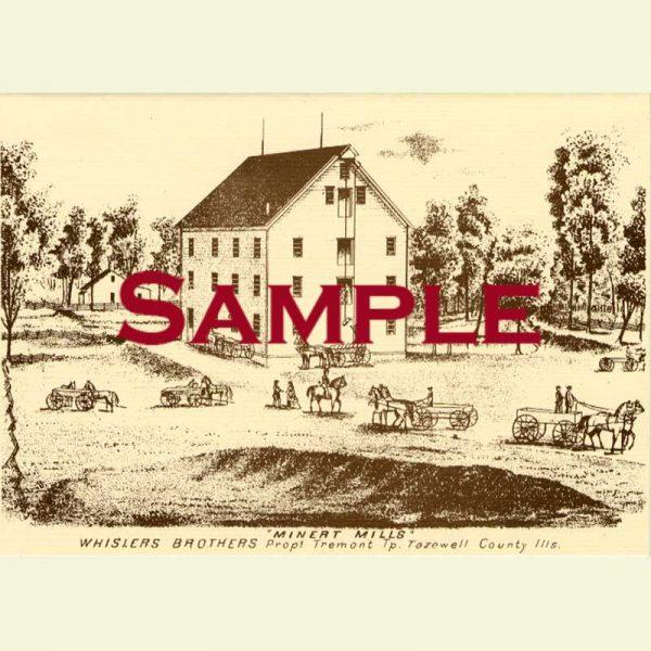 Minert Mills (Minier) Notecard
