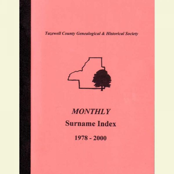 Cover- Monthly Surname Index 1978 -2000