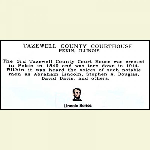 Tazewell County Courthouse Shelf Sitter - Back