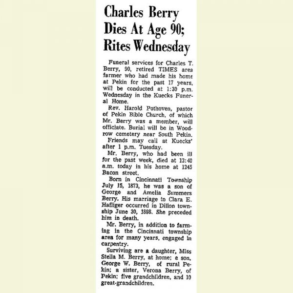 Charles Berry Obituary