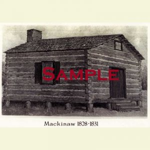 Courthouse (1828-1831) Mackinaw Postcard