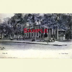 Courthouse-(1849-1914) Pekin Postcard 1