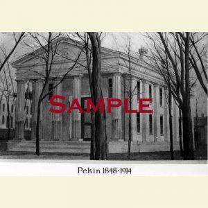 Courthouse (1849-1914) Pekin Postcard 2