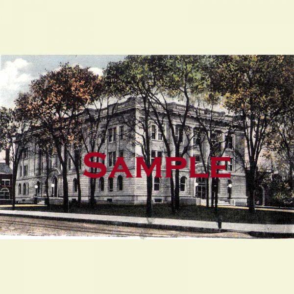 Courthouse (1914-Present) Pekin Postcard 1
