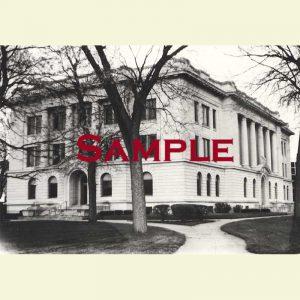 Courthouse (1914-Present) Pekin Postcard 2