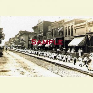 Delavan Locust South Looking South Postcard 2