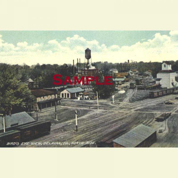 Delavan - Bird's Eye View of North Side Postcard