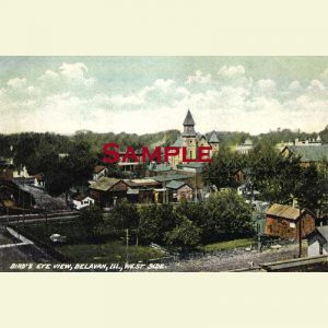 Delavan - Bird's Eye View of West Side Postcard