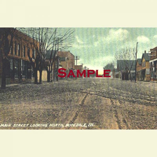 Hopedale Main Street Looking North Postcard