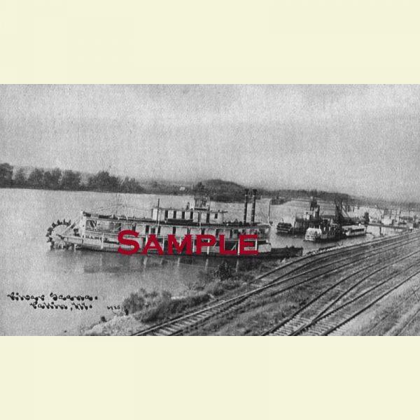Illinois River Steamboat Illinois Postcard