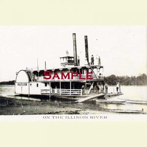 Illinois River Steamboat Mazileon Postcard