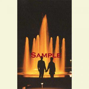 Pekin Sunken Garden Fountain Postcard