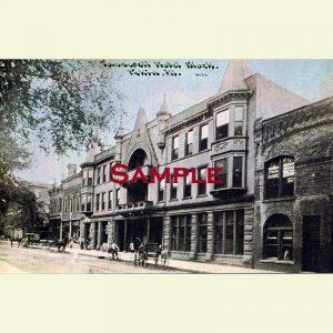 Pekin Tazewell Hotel Block Postcard