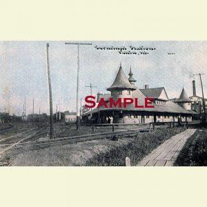 Pekin Terminal Depot Postcard