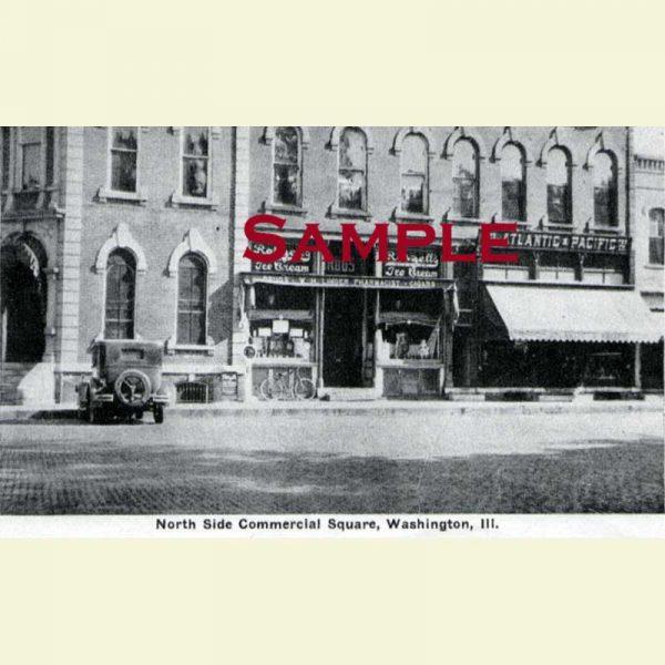 Washington Square North Side Postcard