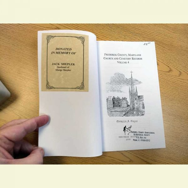 Photo of Book containing a Memorial Bookplate