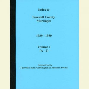 Cover - Marriages 1939-1950 - Volume 1 - Surnames A-J