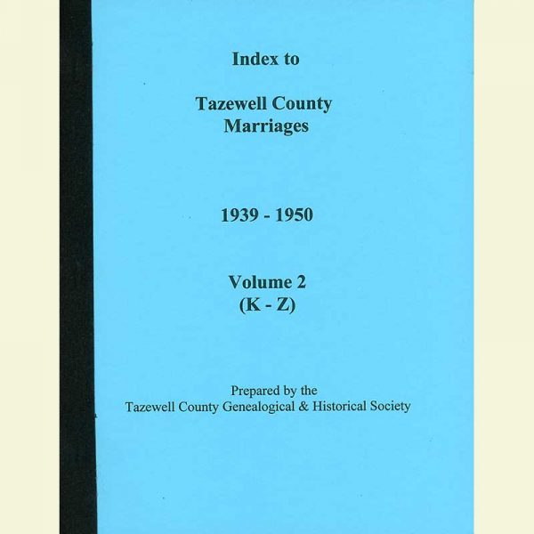 Cover - Marriages 1939-1950 - Volume 1 - Surnames K-Z