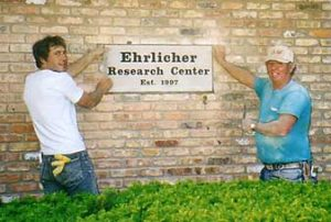 Image of the Ehrlicher Researh Center Plaque