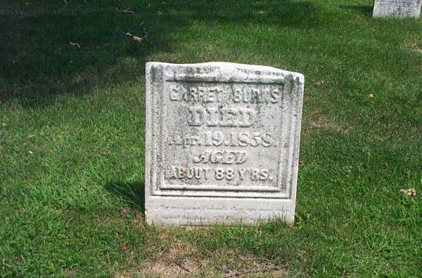 Photo of Garret Burns Tombstone