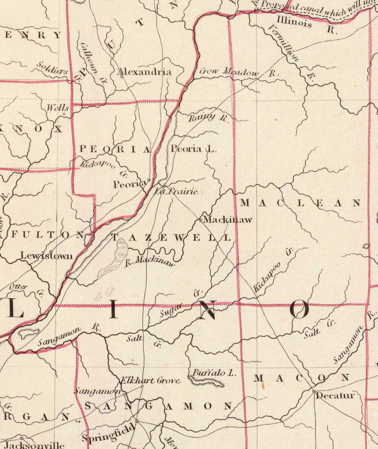 1833 Tazewell County Map