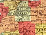 1873 Tazewell County Map Published by Andreas, Lyter & Co.