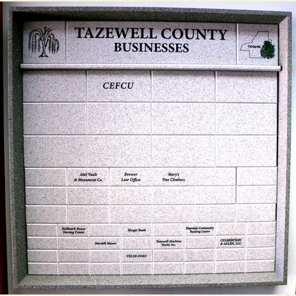 Photo of Tazewell County Business Plaque