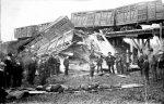 Photo of 1886 Delavan Train Wreck